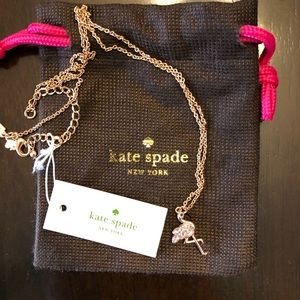NWT Kate Spade Walk the Line flamingo necklace.